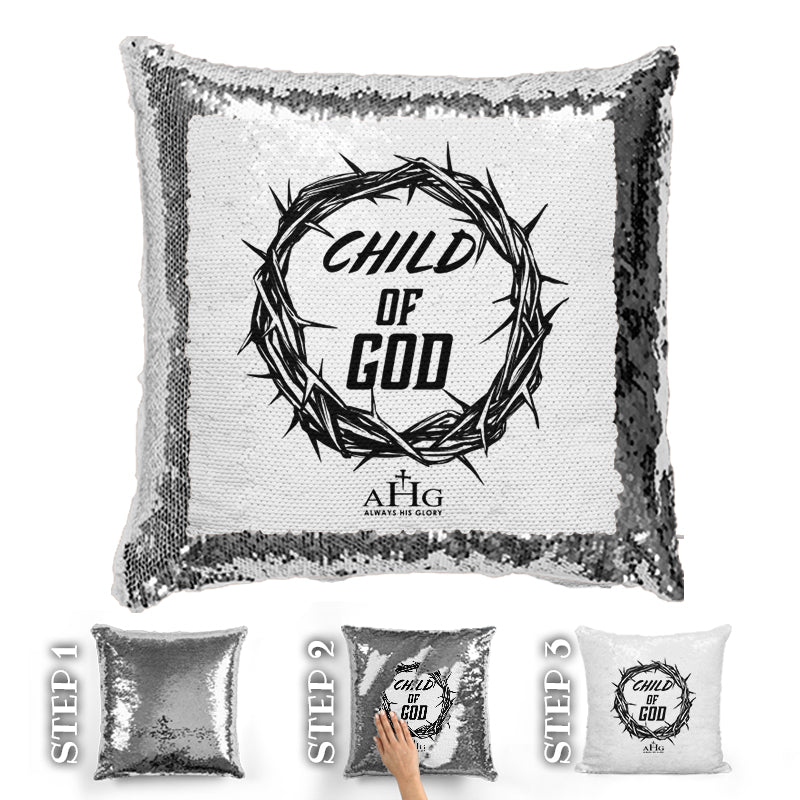 Child Of God Sequin Pillow