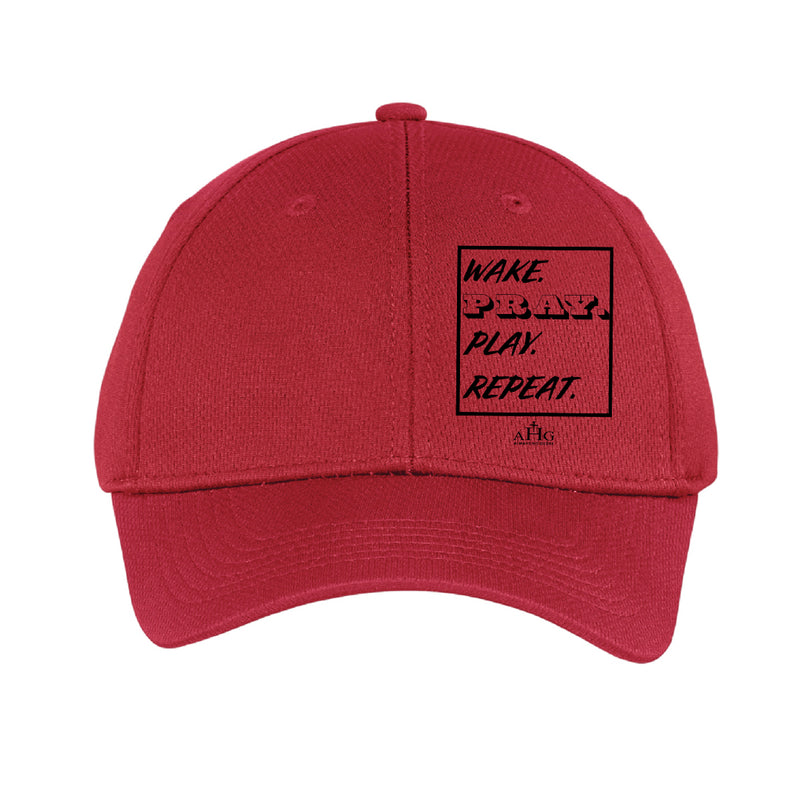 Wake. Pray. Play. Repeat. Youth Hat