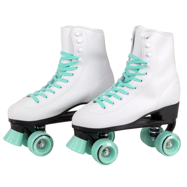 retro mint quad roller skates