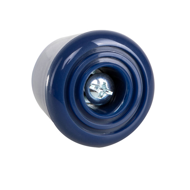 Blossom dark blue C7 roller skate stoppers made from durable polyurethane PU82A dimensions are 47 by 35 mm