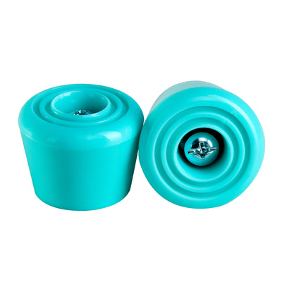 C7skates Teal roller skate stoppers made from durable polyurethane PU82A dimensions and measure 47 by 35 mm.
