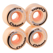 Peachy C7 roller skate wheels made from durable polyurethane PU83A 58 mm diameter