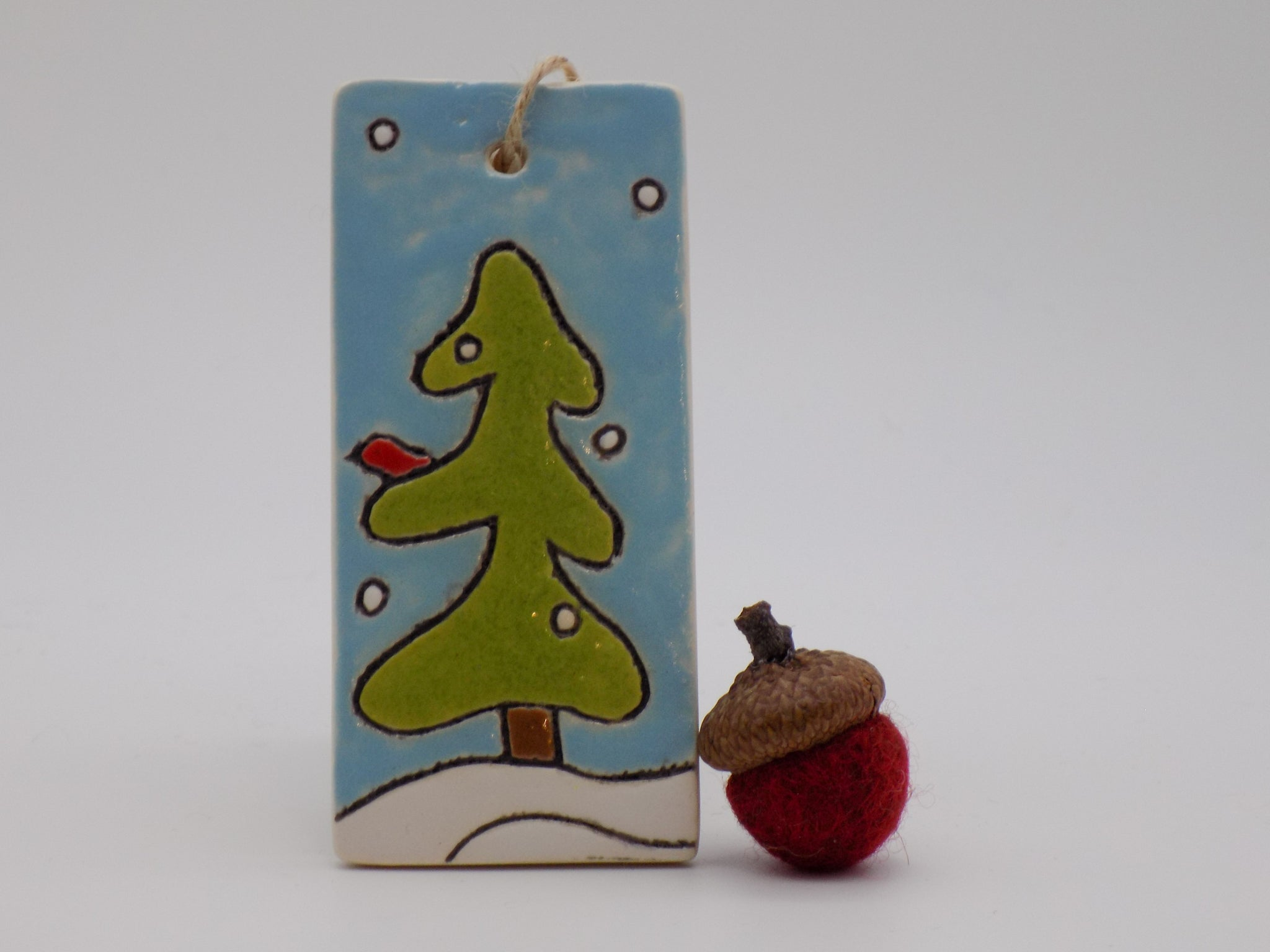 Snowy Tree Ornament