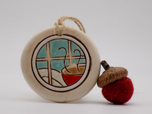 Daytime Winter Scene Ornament