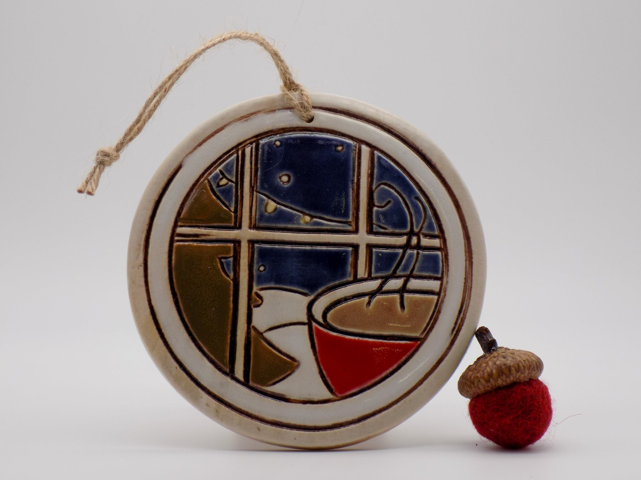 Nighttime Winter Scene Ornament