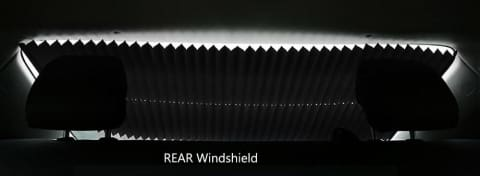 Retractable Curtain for Cars Windshield Anti UV Light Protector