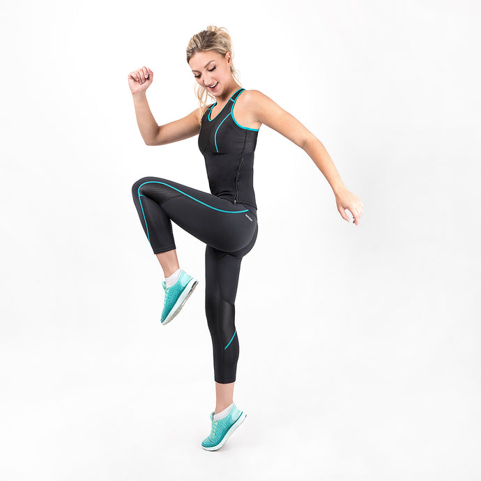 Women's Sauna Tank Top/Leggings Combo (Turquoise)