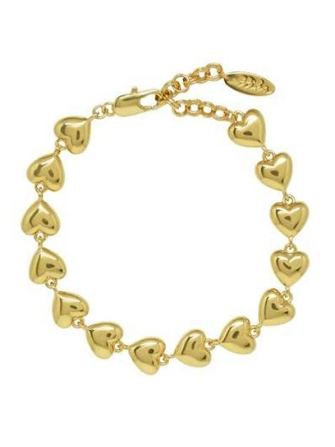 18kt Gold Plated Lucky Heart Bracelet - My Bikini Flex