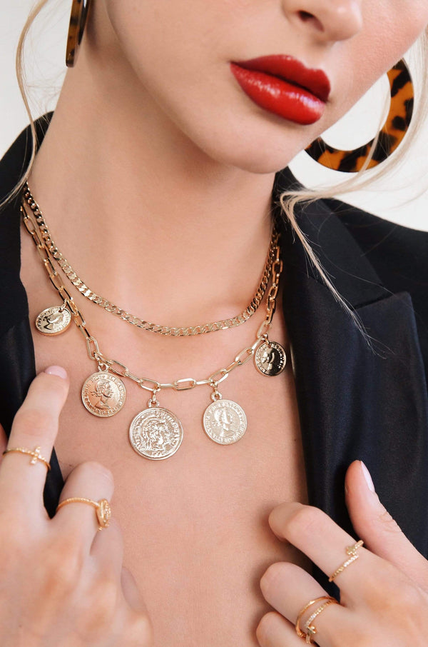 All About the Coin Layer Necklace - My Bikini Flex