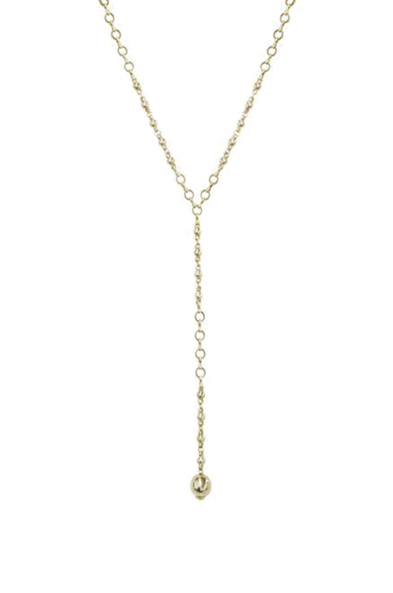 Always Guided Chain Link Lariat Necklace - My Bikini Flex