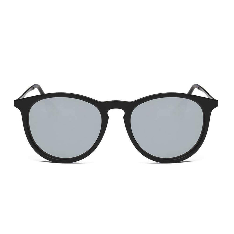 AMES | D35 - Retro Vintage Inspired Horned Keyhole Round Sunglasses - My Bikini Flex