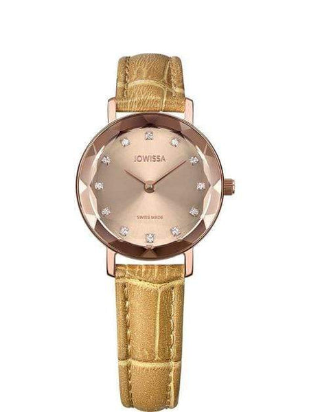 Aura Swiss Ladies Luxury Rose Gold Leather Watch J5.638.S - My Bikini Flex
