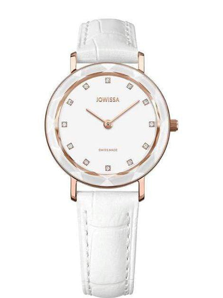 Aura Swiss Ladies Luxury White Watch With Rose Gold J5.639.M - My Bikini Flex