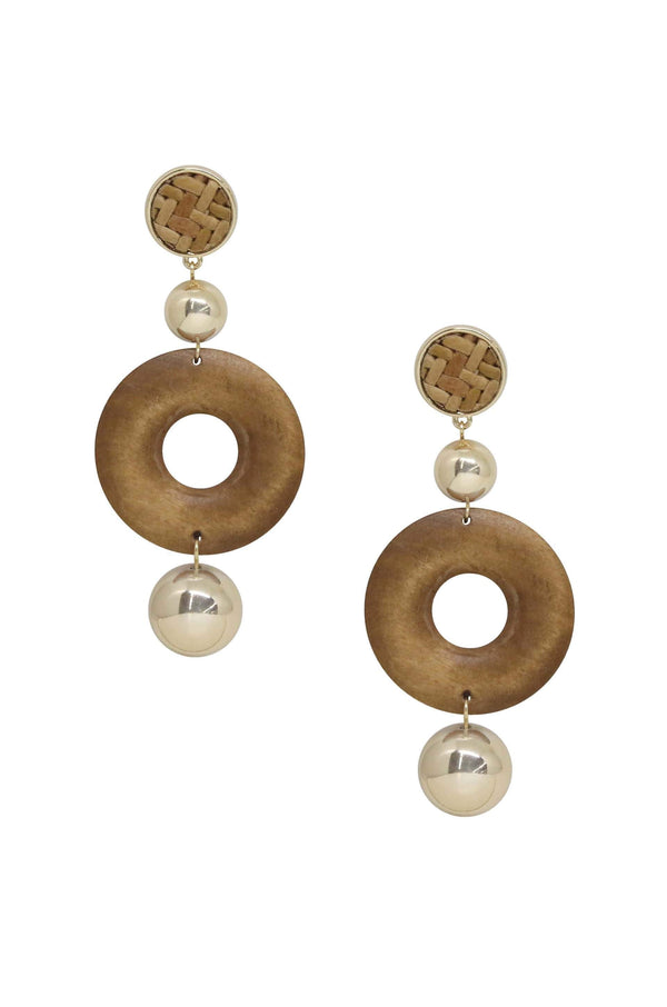 Beachwood Statement Earring with Gold - My Bikini Flex