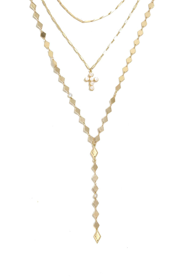 Blessed Be 18kt Gold Plated Layered Necklace Set - My Bikini Flex