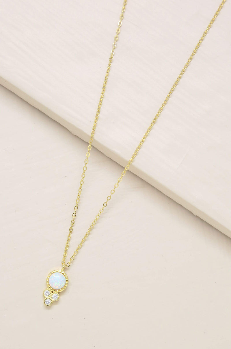 Blessed Opal Pendant Necklace - My Bikini Flex