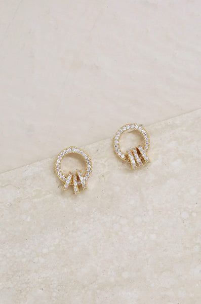 Class Act Crystal Mini Loop Earrings - My Bikini Flex