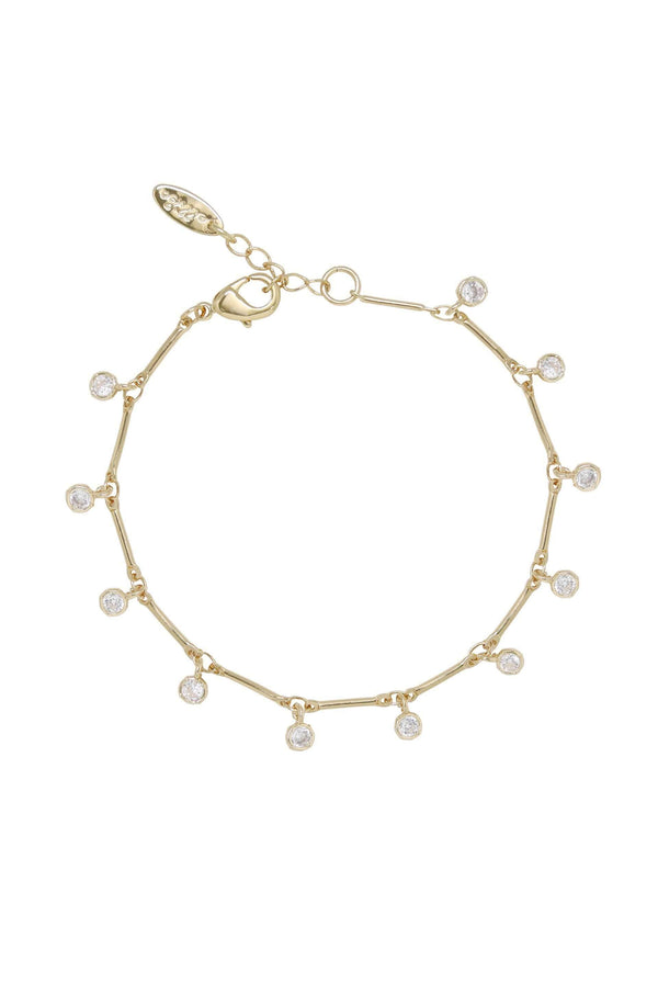 Crystal & Gold Droplet Bracelet - My Bikini Flex