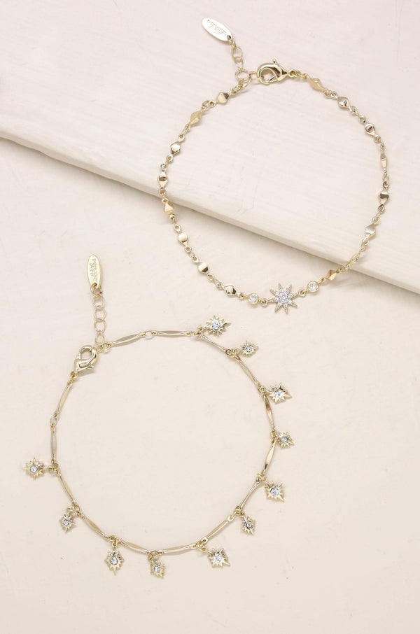 Crystal Starburst Anklet Jewelry - My Bikini Flex