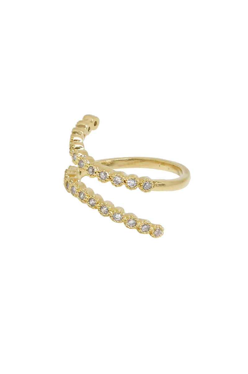 Crystal Wrap Around Ring in Gold - My Bikini Flex