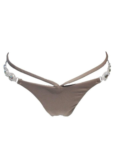 Luxury Brown Strappy Tango Bikini Bottom - My Bikini Flex