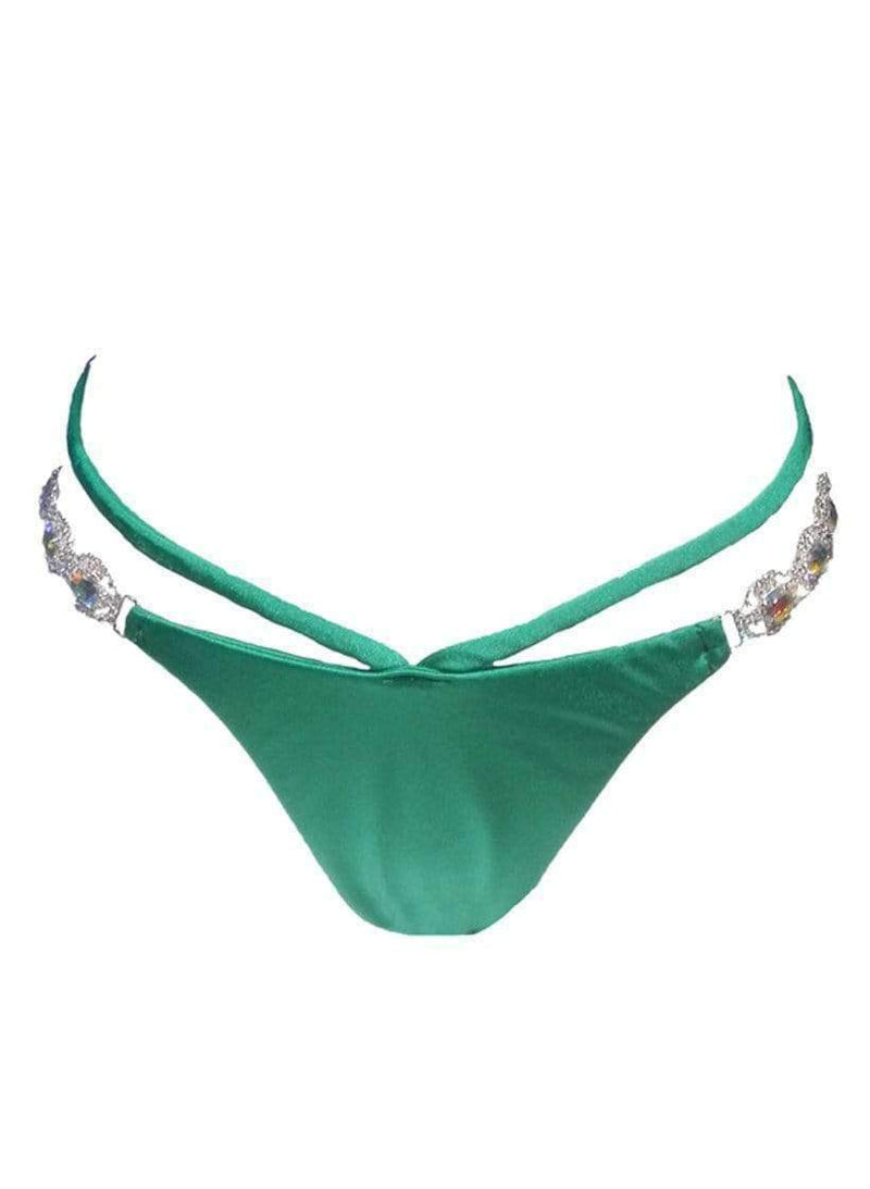 Luxury Green Strappy Tango Bikini Bottom - My Bikini Flex