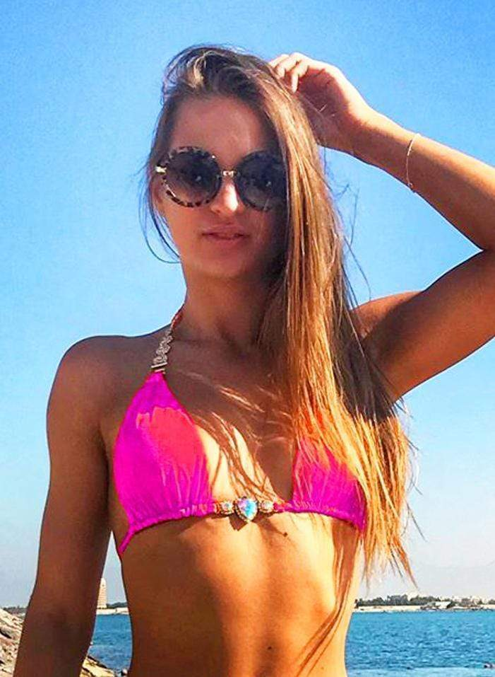 Waterproof Swarovski Halter Luxury Neon Pink Bikini Top - My Bikini Flex