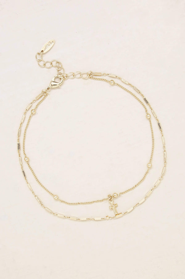 Delicate Details Anklet Jewelry in Gold - My Bikini Flex
