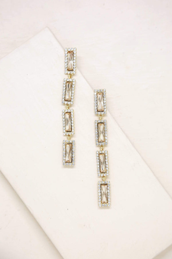 Drop Gem Earrings in Topaz Glass - My Bikini Flex
