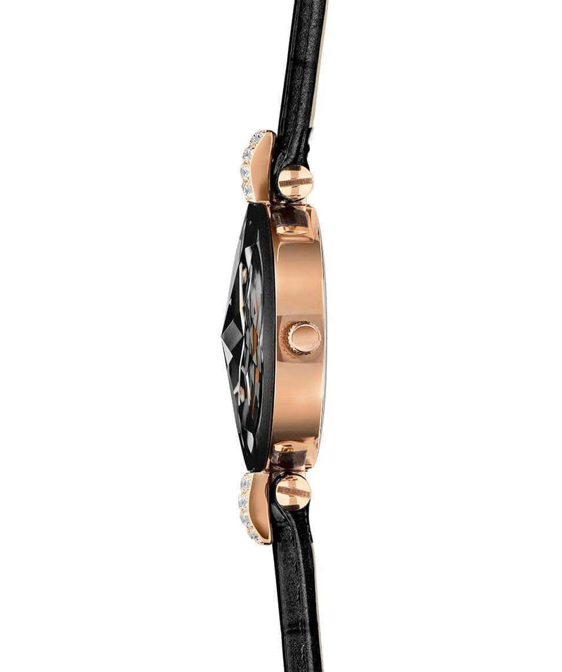 Facet Strass Swiss Ladies Black Crocodile Leather Luxury Watch J5.650.S - My Bikini Flex