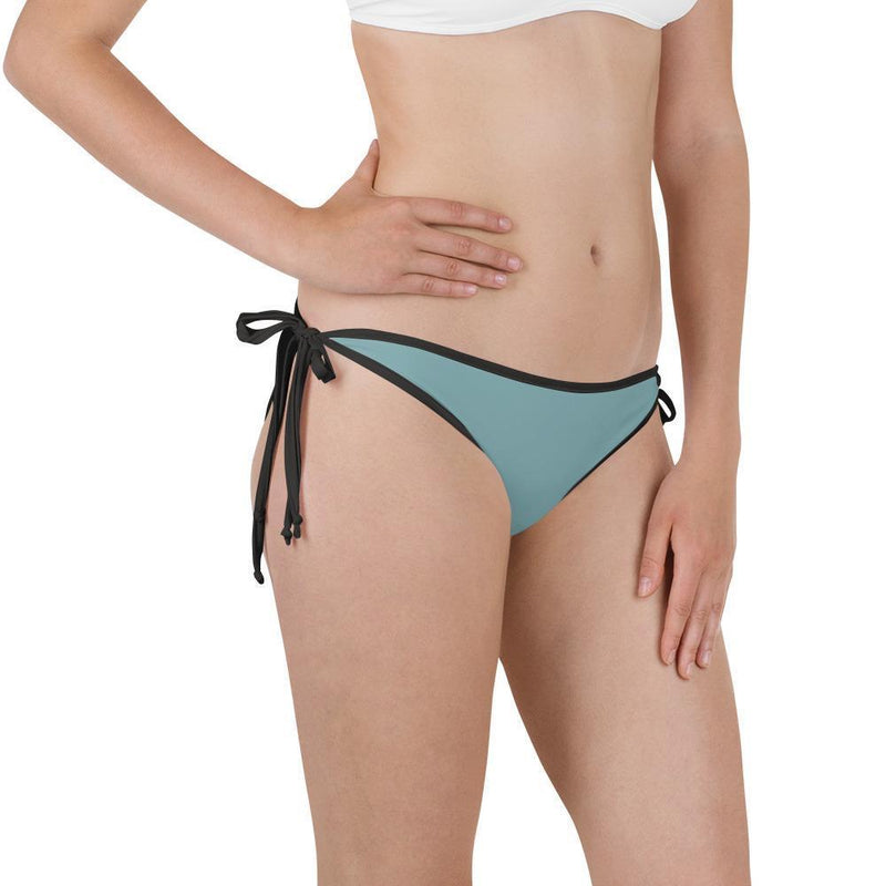 Aqua Green Adjustable Strap Cheeky Reversible Bikini Bottom - My Bikini Flex