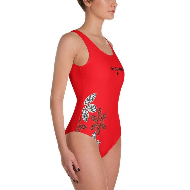 Red Monokini One Piece Guard Swimsuit Cheeky Bikini - My Bikini Flex