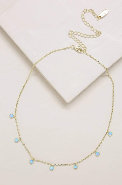 Fine Tune Blue Opal Necklace - My Bikini Flex