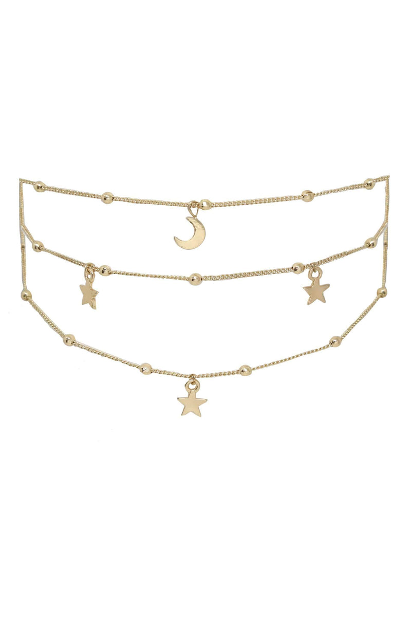 Galileo Choker Necklace in Gold - My Bikini Flex