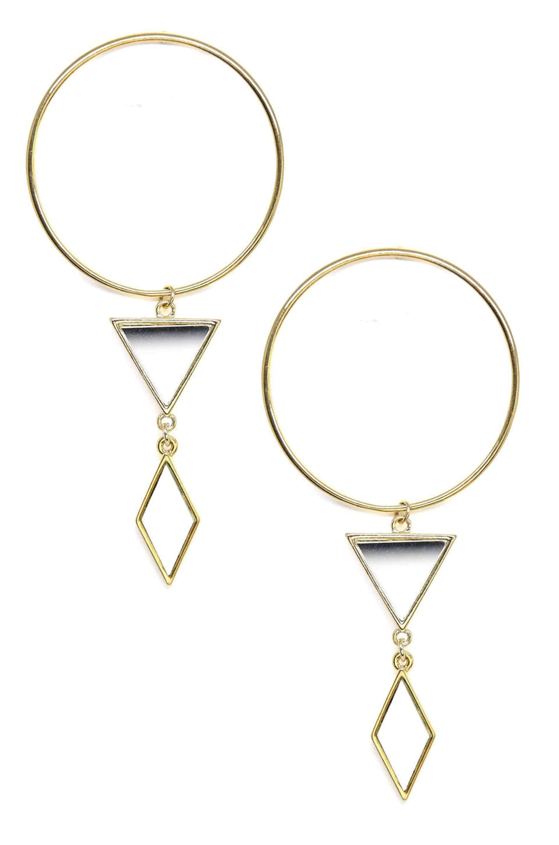 Gilded Geometry Earrings - My Bikini Flex