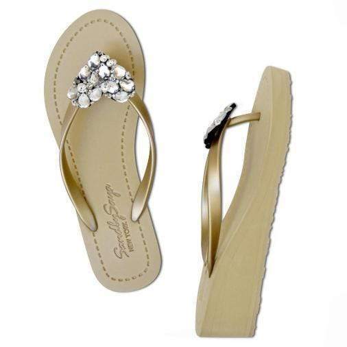 Chelsea Heart (Crystal) - Women's Mid Wedge Sandal - My Bikini Flex