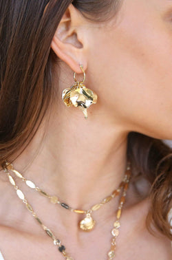 Gold Ocean Cluster Earrings - My Bikini Flex