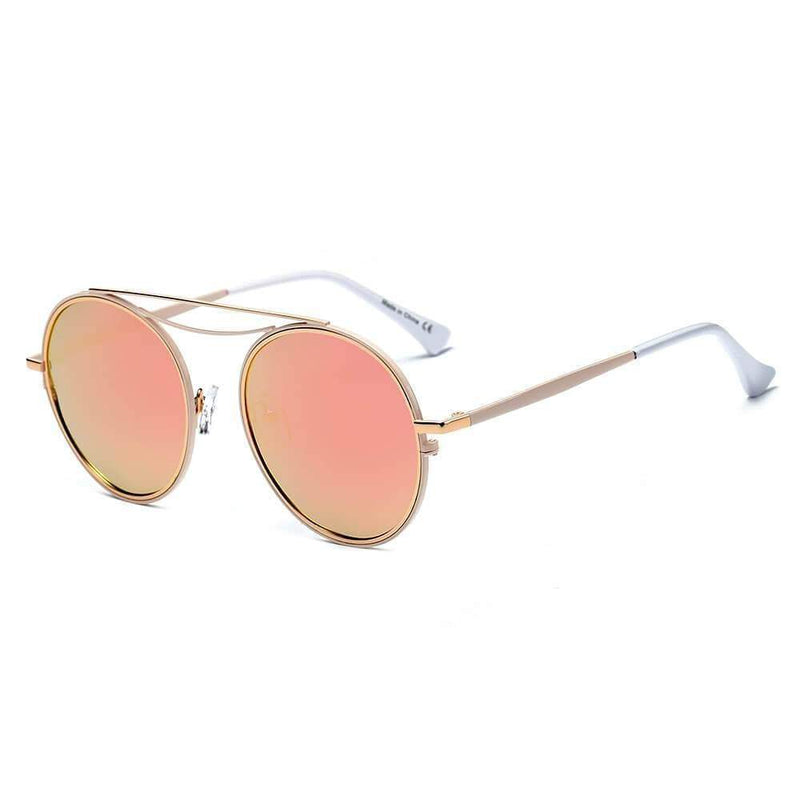 Polarized Circle Round Brow-Bar Retro Fashion Sunglasses - My Bikini Flex