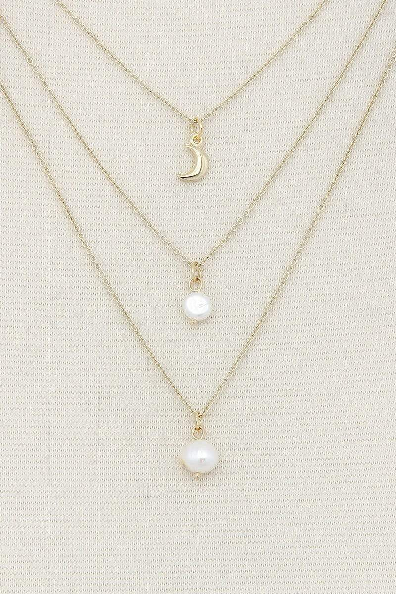Sexy Chic Pearl 3 Layer Necklace - My Bikini Flex