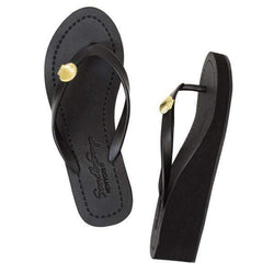 Gold Shell - Women's Mid Wedge Sandal - My Bikini Flex