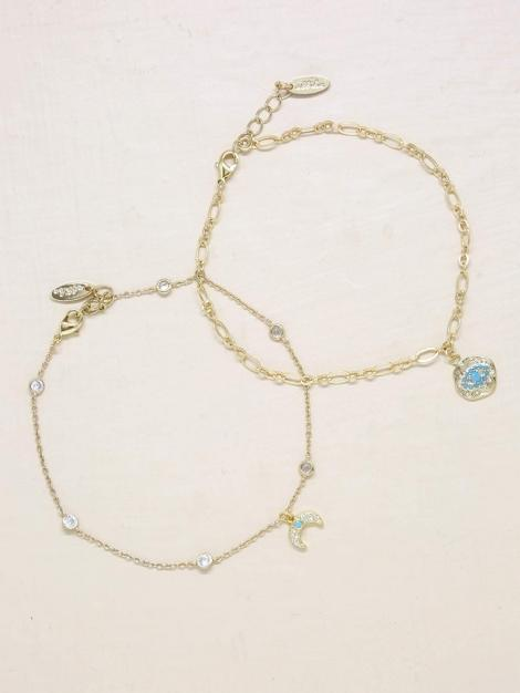 Into the Blue Third Eye & Crystal Horn Anklet Jewelry - My Bikini Flex