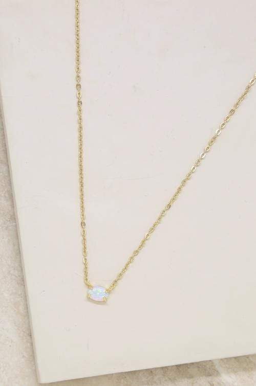 Keepsake Kyocera Opal & 18kt Gold Plated Necklace - My Bikini Flex