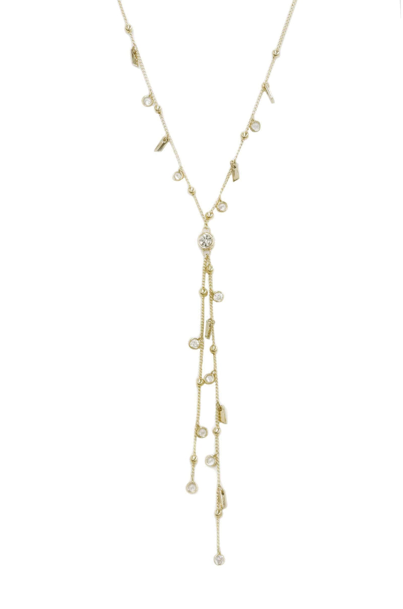 Late Night Lariat Necklace with Crystals - My Bikini Flex