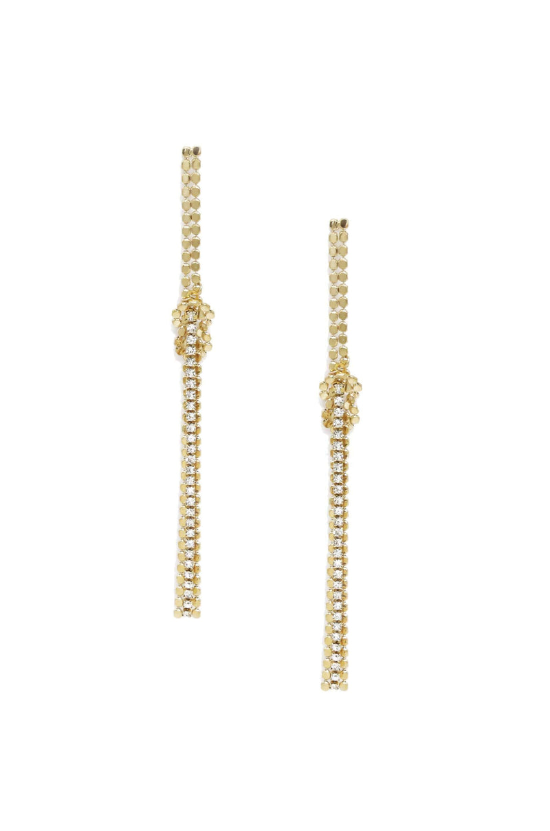 Linear Crystal Duster Earrings - My Bikini Flex