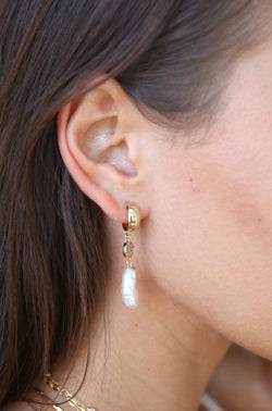 Little Things Freshwater Pearl Drop Earrings - My Bikini Flex
