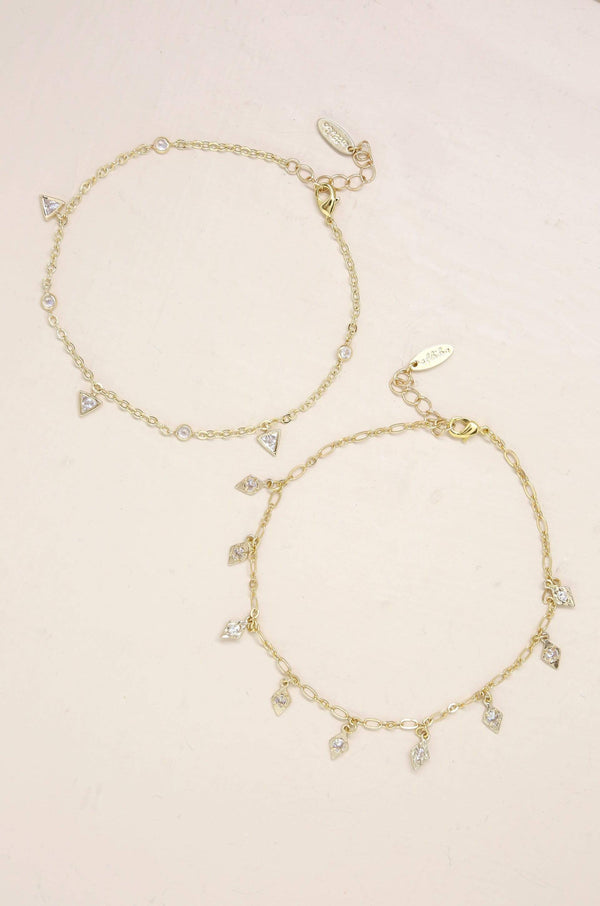 Mini Crystal Charms Anklet Jewelry - My Bikini Flex
