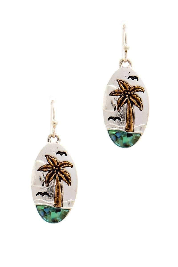 Designer Cute Sea And Palm Tree Earring - My Bikini Flex