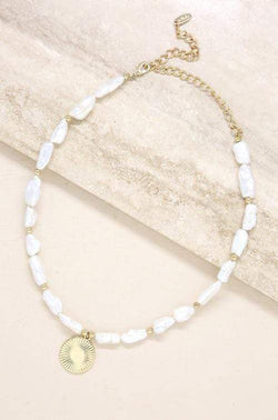 Paloma Pearl Coin Necklace - My Bikini Flex
