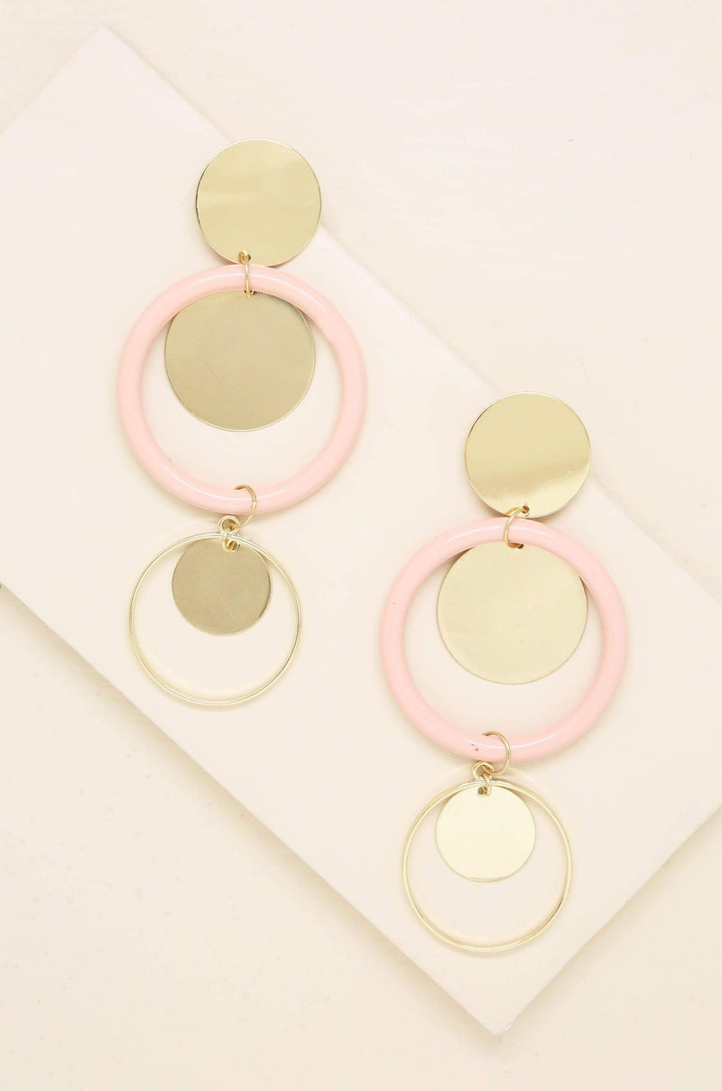Petunia Earrings in Light Pink and Gold - My Bikini Flex