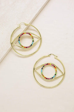 Rainbow Eye Earrings - My Bikini Flex
